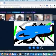 Videokonferenz mit Grundschülern